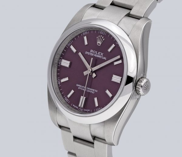 Rolex Oyster Perpetual 36 Red Grape Dial 116000