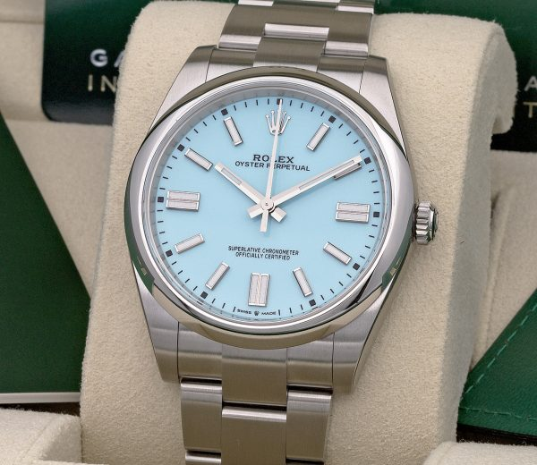 ROLEX OYSTER PERPETUAL 41 124300 TIFFANY DIAL